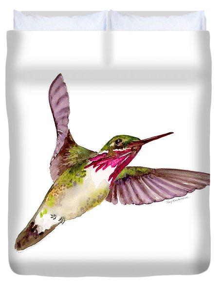 Calliope Hummingbird Duvet Cover