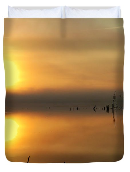 Calm At Dawn Duvet Cover by Roger Becker