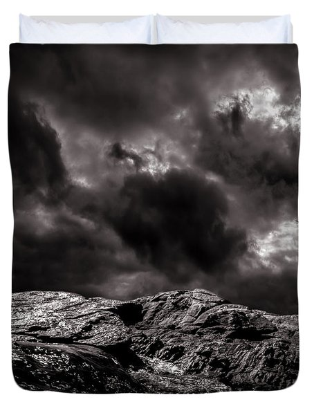 Calm Before The Storm Duvet Cover by Bob Orsillo