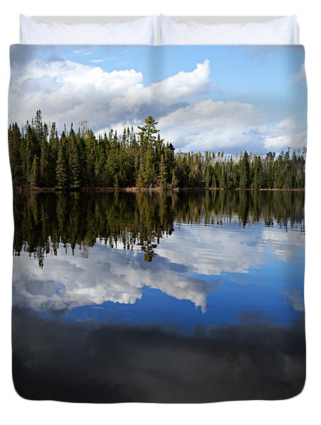 Calm Before The Storm Duvet Cover by Larry Ricker
