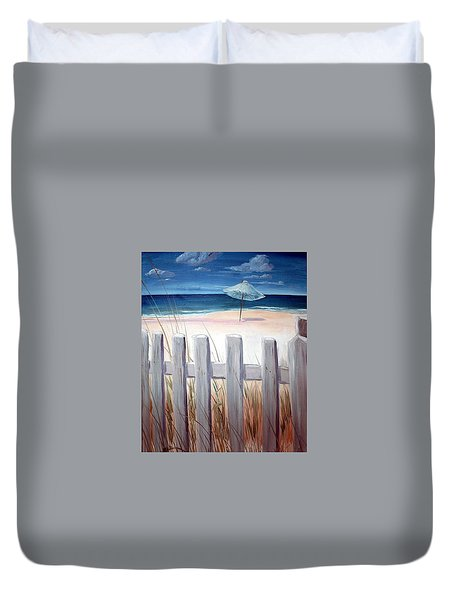 Calm Day At The Seashore Duvet Cover by Bernadette Krupa