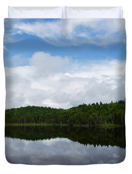 Calm Lake - Turbulent Sky Duvet Cover by Georgia Mizuleva