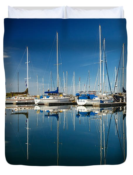 Calm Masts Duvet Cover by James Eddy