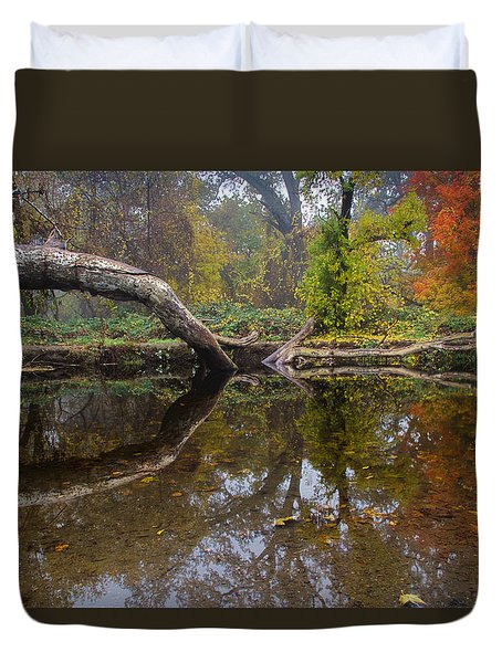 Calm On Big Chico Creek Duvet Cover