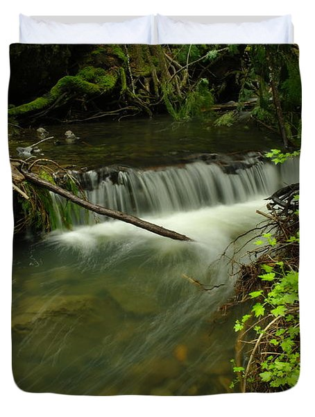 Calm Rapids Duvet Cover by Jeff Swan