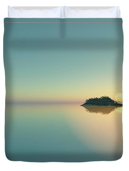 Calm Seas Sunset... Duvet Cover by Tim Fillingim