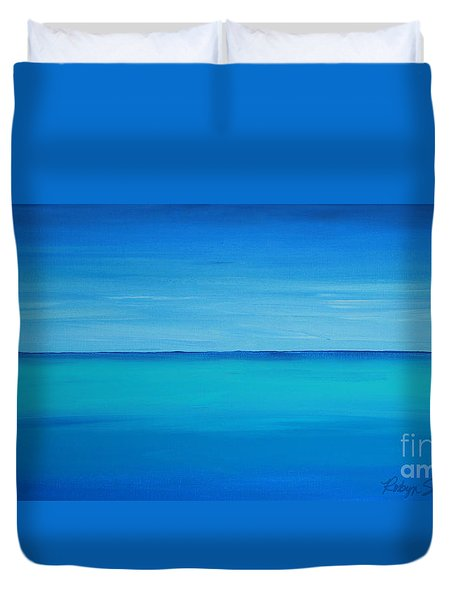 Calming Turquise Sea Part 1 Of 2 Duvet Cover