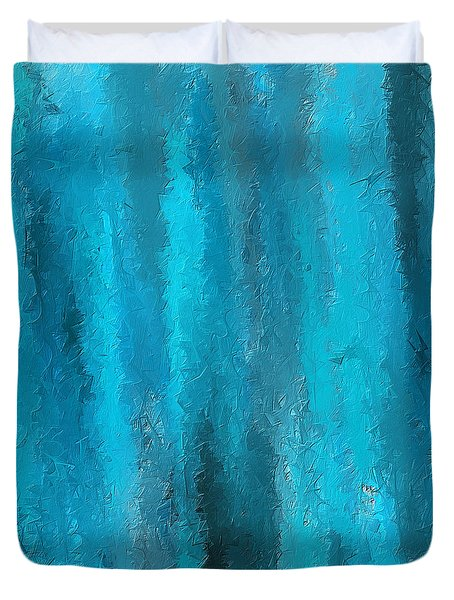 Calming Visuals-turquoise Art Duvet Cover