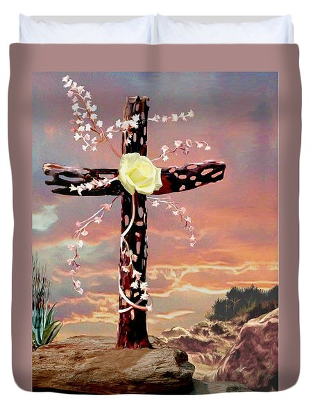 Calvary Cross Duvet Cover