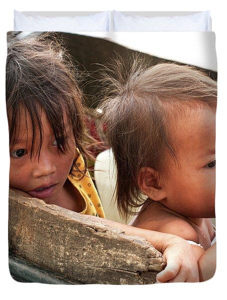 Cambodian Children 03 Duvet Cover