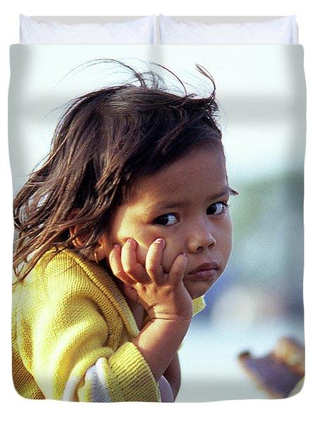 Cambodian Girl 01 Duvet Cover