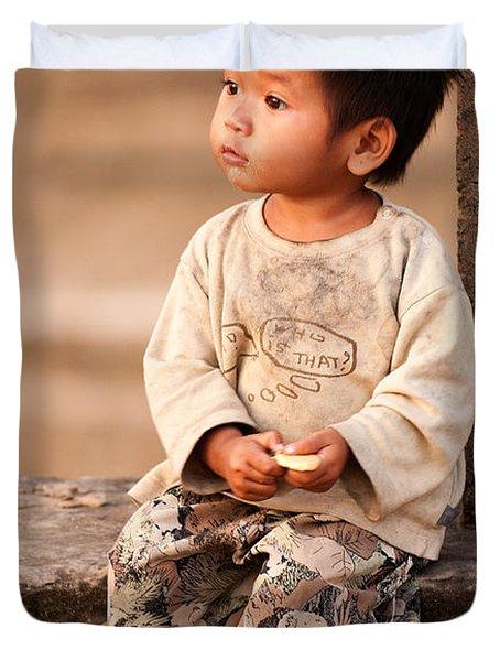 Cambodian Girl 02 Duvet Cover