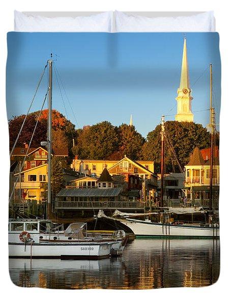 Duvet Cover featuring the photograph Camden Maine by Brian Jannsen