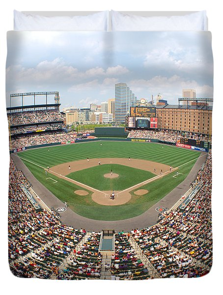 Camden Yards Baltimore Md Duvet Cover by Panoramic Images