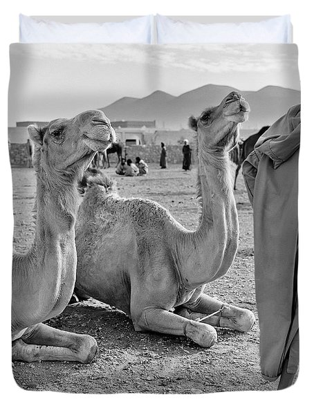 Camel Market, Morocco, 1972 - Travel Photography By David Perry Lawrence Duvet Cover