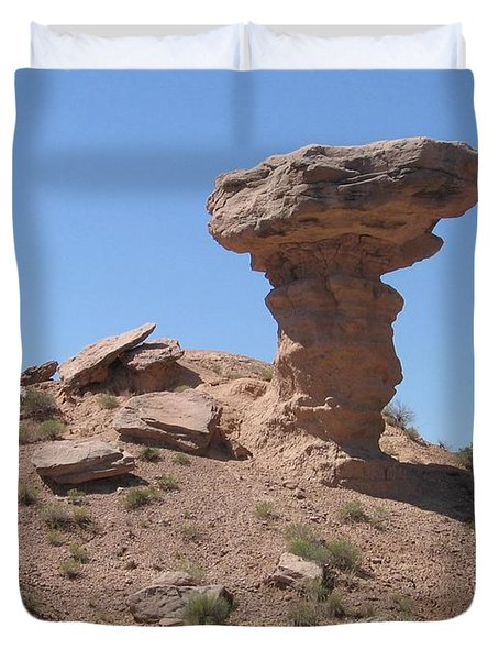 Duvet Cover featuring the photograph Camel Rock - Natural Rock Formation by Dora Sofia Caputo Photographic Art and Design