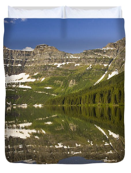 Cameron Lake Duvet Cover by Dee Cresswell