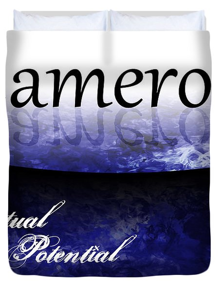 Cameron - Spiritual Potential Duvet Cover by Christopher Gaston