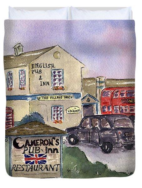Cameron's Pub And Restaurant Duvet Cover