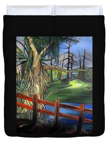 Camino Real Park Duvet Cover by Mary Ellen Frazee