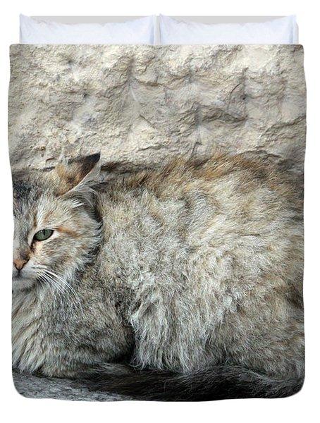 Camo Cat Duvet Cover