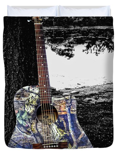 Camo Guitar Duvet Cover
