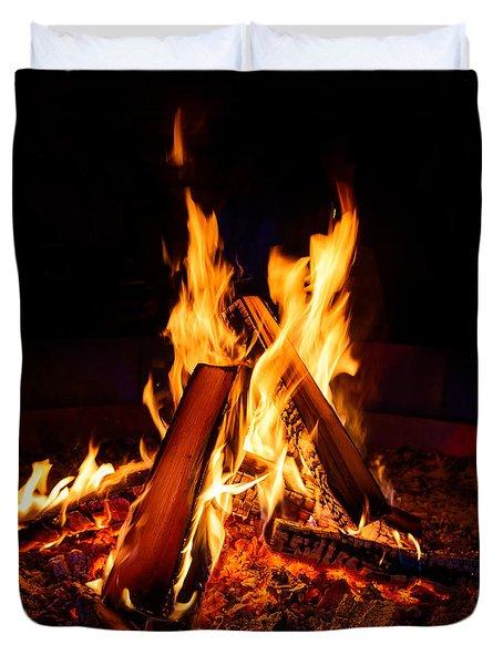 Camp Fire Duvet Cover
