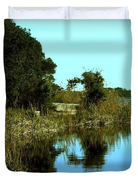 Camp Helen Duvet Cover by Debra Forand