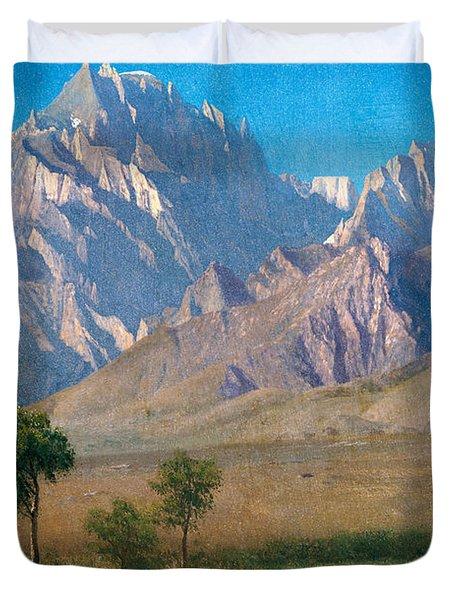 Camp Independence Colorado Duvet Cover by Albert Bierstadt