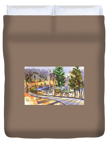 Camp Penuel At Lake Killarney Duvet Cover by Kip DeVore