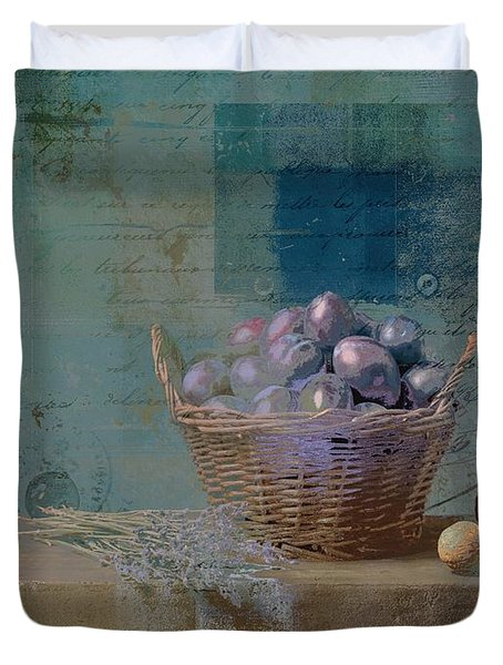 Campagnard - Rustic Still Life - J085079161f Duvet Cover by Variance Collections