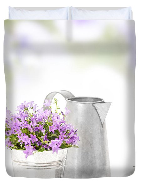Campanula Flowers Duvet Cover