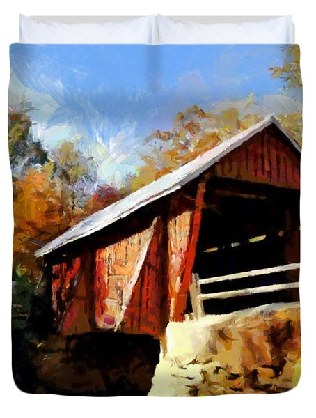 Campbell's Covered Bridge Duvet Cover