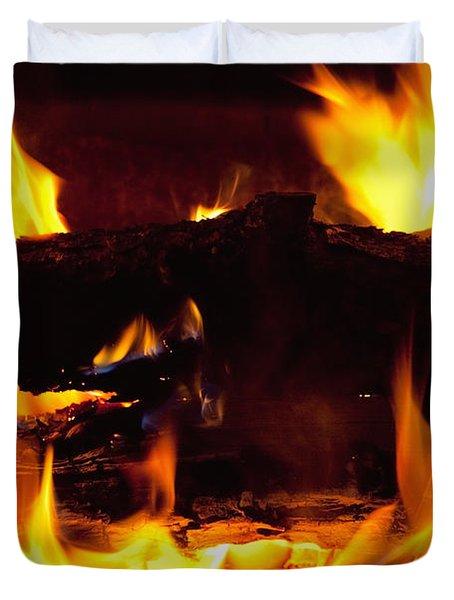 Campfire Burning Duvet Cover