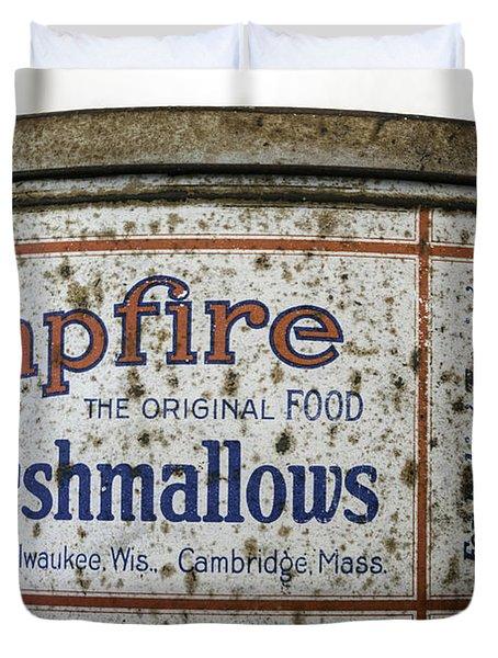 Campfire Marshmallows Tin Duvet Cover by Lynn Palmer