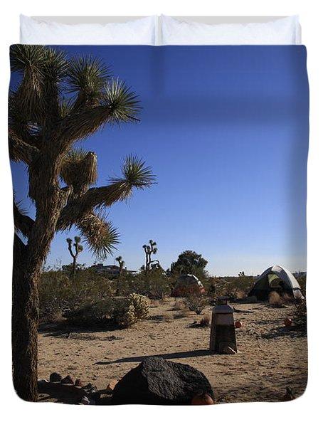 Camping In The Desert Duvet Cover by Nina Prommer