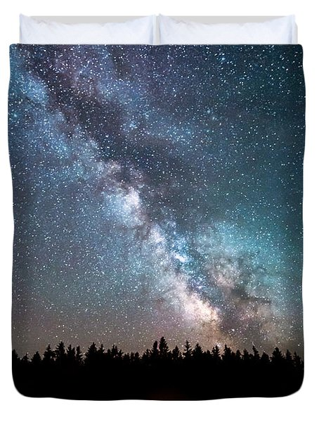 Camping Under The Stars Duvet Cover