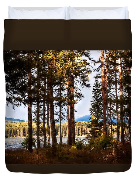 Duvet Cover featuring the photograph Campsite Dreams by Janie Johnson