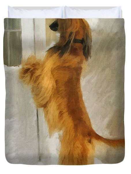 Can I Come In Now? Duvet Cover