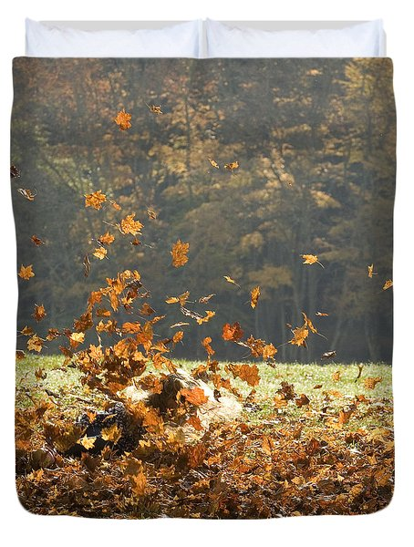 Duvet Cover featuring the photograph Can You See Me? by Carol Lynn Coronios