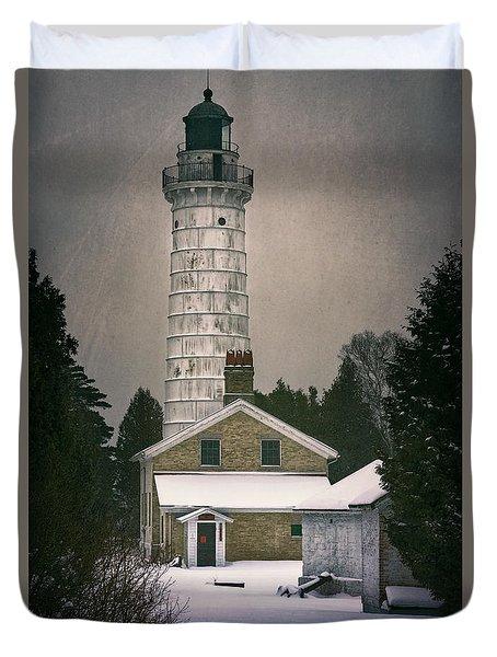 Cana Island Light II Duvet Cover by Joan Carroll