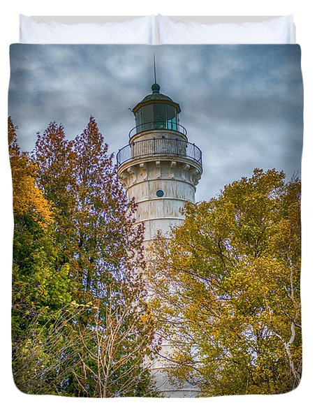 Cana Island Lighthouse II By Paul Freidlund Duvet Cover