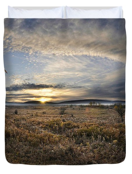 Canaan Valley In Morning Duvet Cover by Dan Friend