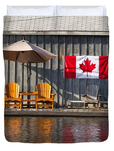 Canada Day In Muskoka Duvet Cover