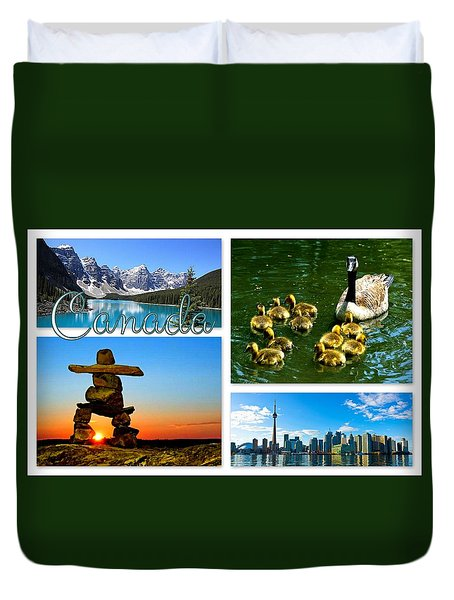 Canada Duvet Cover by The Creative Minds Art and Photography