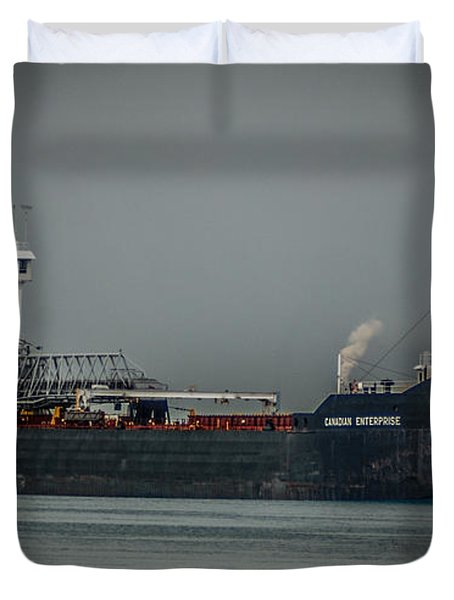 Canadian Enterprise Duvet Cover by Ronald Grogan