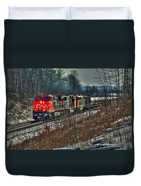 Canadian National Railway Duvet Cover