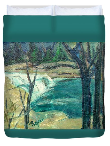 Canajoharie Creek Near Village Duvet Cover by Betty Pieper