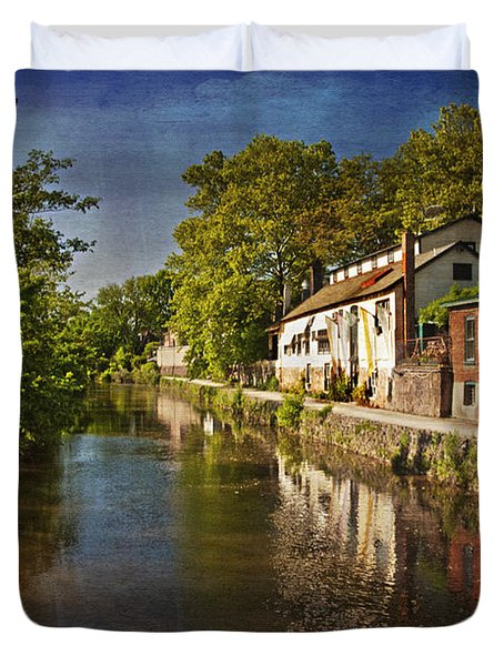 Canal Along The Porkyard Duvet Cover