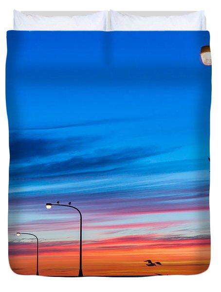 Canal Park Sunrise Duvet Cover by Mark Goodman